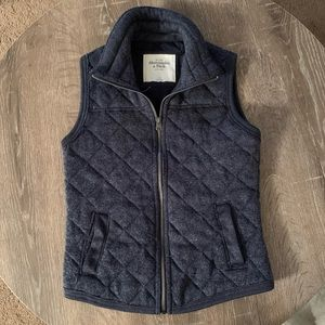 Quilted navy blue vest